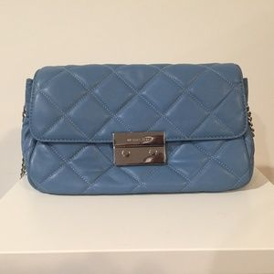 Michael Kors Blue Sloan Quilted Leather Purse